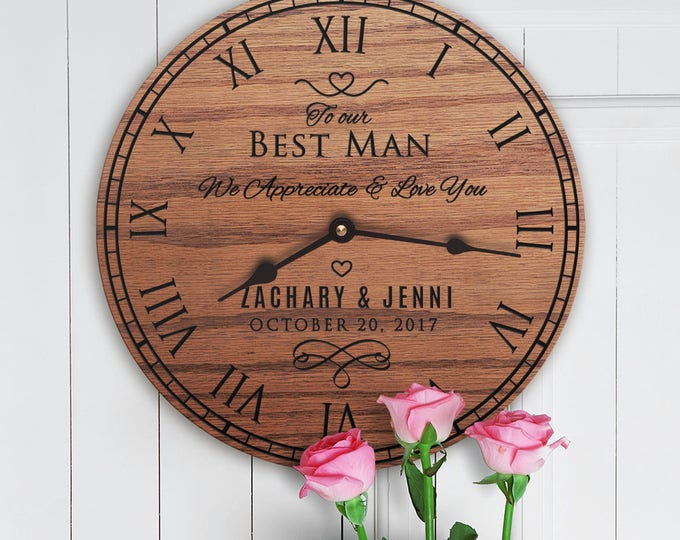 Personalized Gift For Best Man - Thank You Gift to Best Man - Gift From Bride and Groom to The Best Man - Custom Names - Best Man Message
