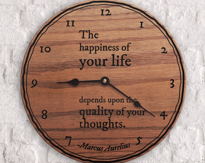 Be Happy Quotes - Happiness Quotes - The Happiness of Your Life Depends Upon The Quality of Your Thoughts - Marcus Aurelius