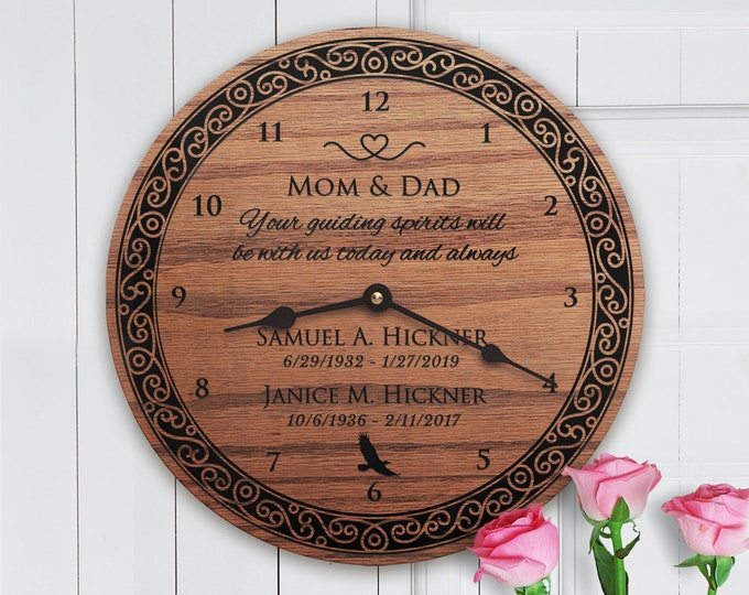 Memorial Gift For Mom and Dad - Both Parents - Sympathy - Loss of Mom and Dad - Memorial Gift for Mom and Dad - Mom and Dad Memorial (Eagle)