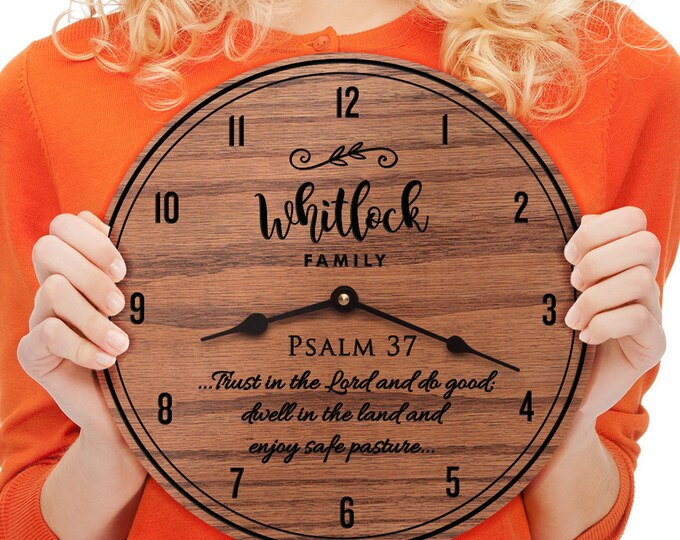 Psalm 37 - 37th Psalm - Bible Verse - Psalms - Custom Names - Family Last Name