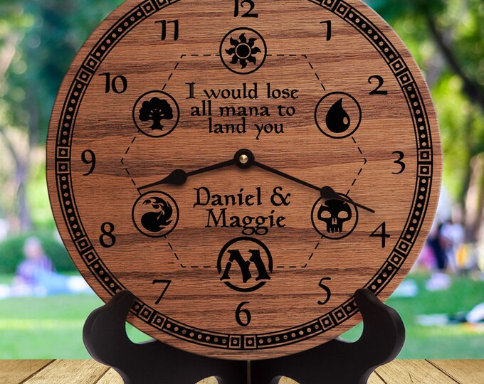 Personalized MTG Wedding Gift - I Would Lose All Mana To Land You - Custom Names - Wedding Gift for Magic The Gathering Players