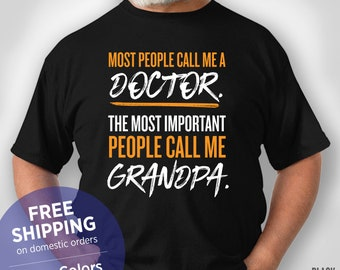 Pures Designs Doctor The Important Call Me Daddy Dad-Funny Doctor Tank Top