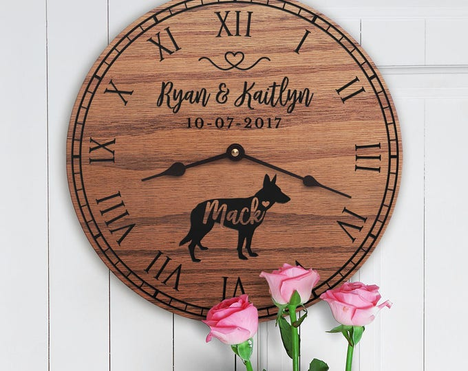 Gift for the Home of Couple with German Shepherd - Personalized German Shepherd Gift - German Shepherd Dog Parents - German Shepherd Lovers