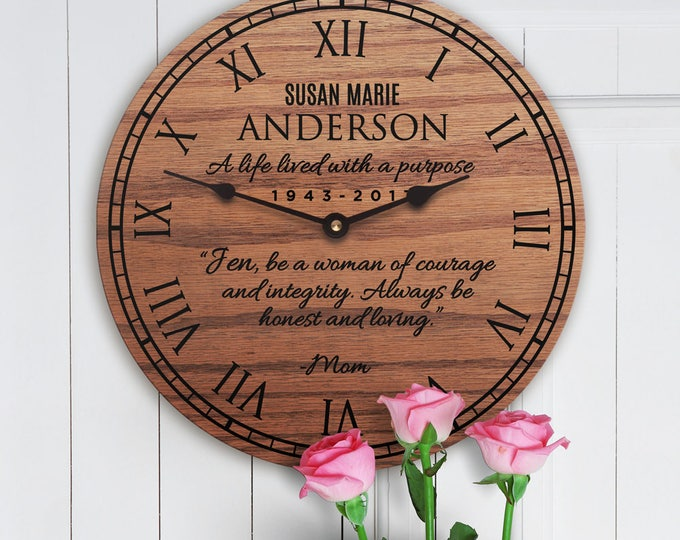Sympathy Gift for Loss of Mom - Sympathy Gift for Loss of Mother - Loss of Mommy - Loss of Mom - Remembering Mom Clock
