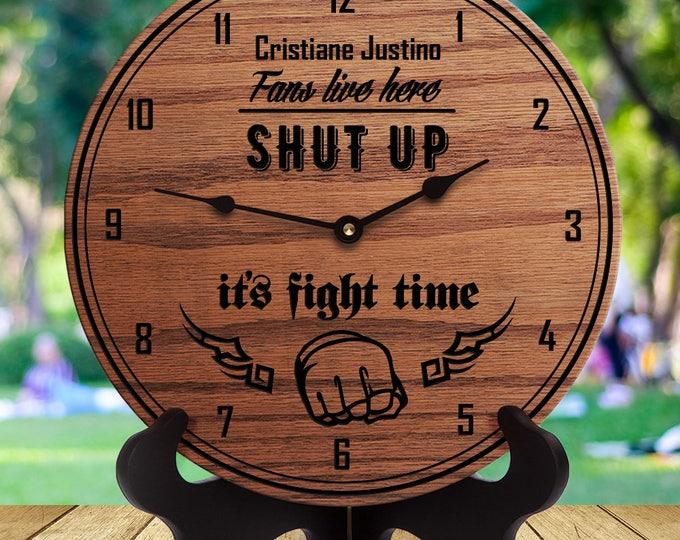 Cristiane Justino Fan Gift - Shut Up It's Fight Time - MMA Fighter - Gift for MMA Fan - Mixed Martial Arts - Jiu Jitsu - Grappling Fighting