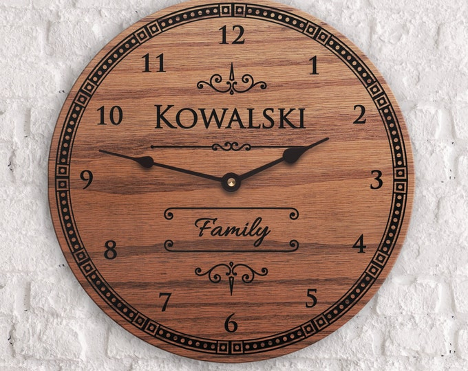 Polish Decor - Polish Surname - Custom Last Name - Family Name Decor - Ethnic Decor - Poland Decor - Polish Name Clock