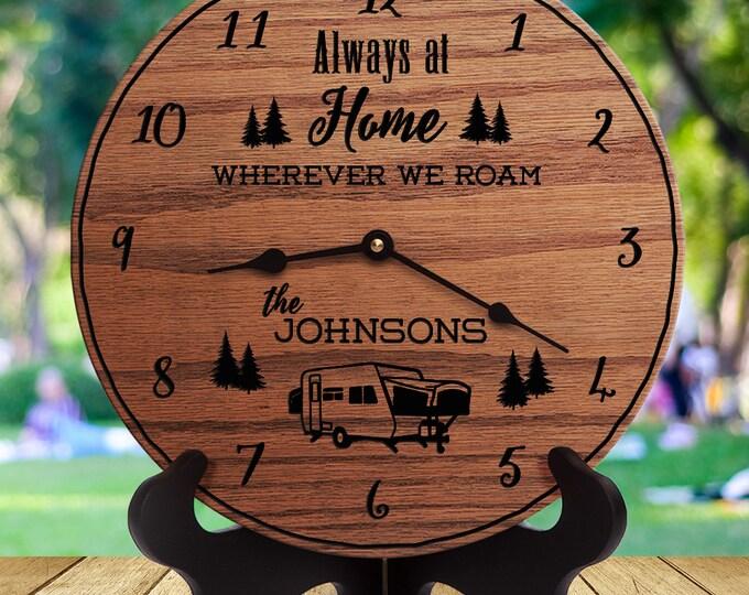 Camper Decor - Wherever We Roam - Custom Last Name - Family Name - RV Decor - Popup Camper - Towable RV Camper - Dinghy - Towed