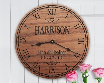 5 Year Wood Anniversary Gift Ideas - 5th Anniversary Gift Ideas - Wooden 5 Year Anniversary Gift Ideas - Custom Names - Blissful Bouquet