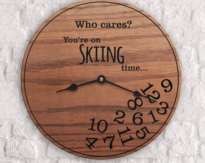Funny Gifts for Skiing Hobby - Gifts for People Who Love to Ski - Unique Model Skiing Gifts - Skiing Gifts - Skiing Time
