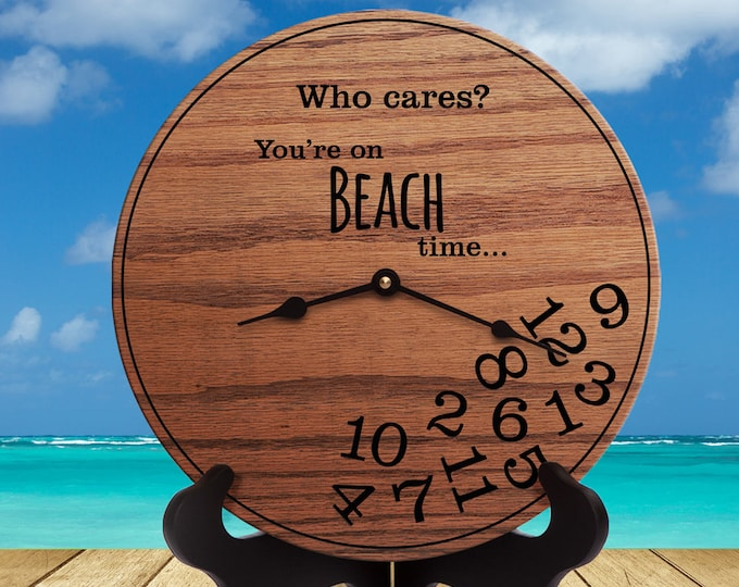 Funny Beach Gifts - Gifts for People Who Live Near Beach - Gifts for Beach House - Beach Decor - Gifts for House on Beach - Beach Time