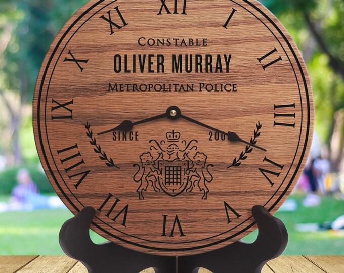 Metropolitan Police Gift - Metropolitan Police Officer Retirement Gift - Custom Names - Retirement - Training - Academy - Constable - Cadet