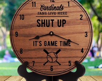 2af6e724 Cardinals clock | Etsy