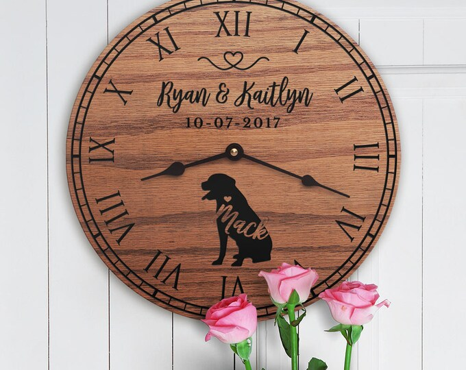 Gift for the Home of Couple with Rottweiler Dog - Rottweiler Decor - Personalized Dog Gift - Family Dog Custom Names - Rottweiler Lovers