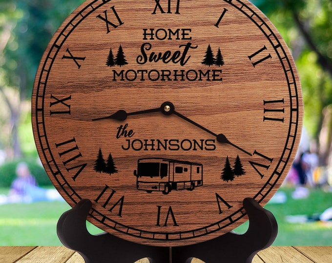 Camper Decor - Home Sweet Motorhome - Custom Last Name - Family Name - Motorhome - Motorcoach - Diesel Pusher - Class A - Coach - Rig - Bus