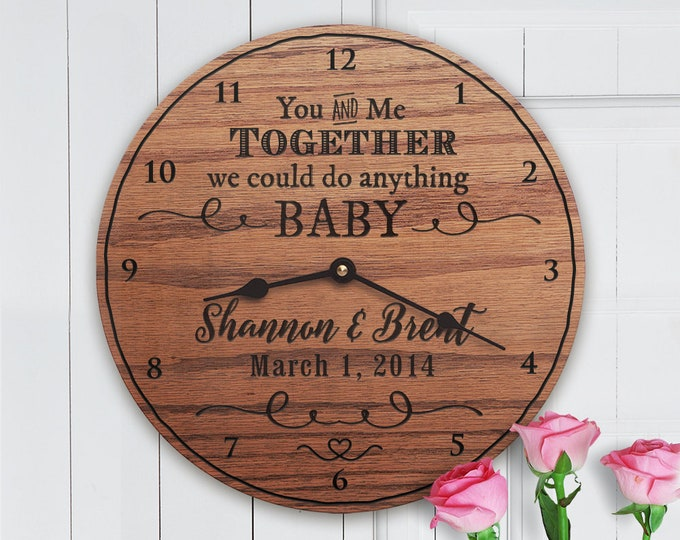 We Can Do Anything Baby - Dave Matthews Lyrics - Custom Anniversary - Dates - Custom Names - Wedding Anniversary - Dave Matthews