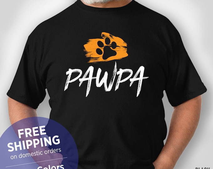 Pawpa Grandpa - Dog Grandpa - Fur Grandpa - Funny Shirt - Grandpa Birthday Gift - Grandpa Christmas Gift
