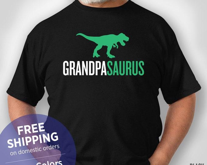 Grandpasaurus - Grandpa Shirt - Dinosaurus -  Retirement Gift Grandpa - Funny Tshirt - Grandpa Birthday Gift