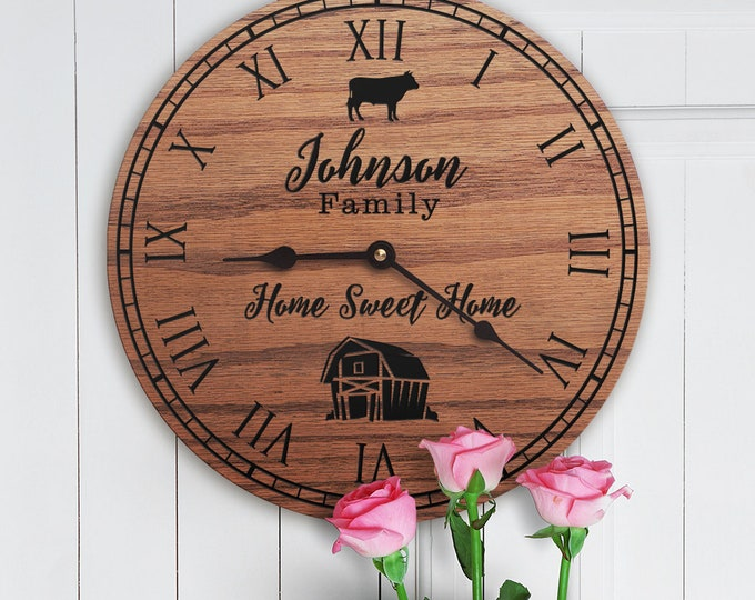 Personalized Cattle Ranch Decor Gift - Cute Steer - Gift for Bull Cows - Heifer - Bullocks - Texas Longhorn - Family Name - Cattle Beef Farm