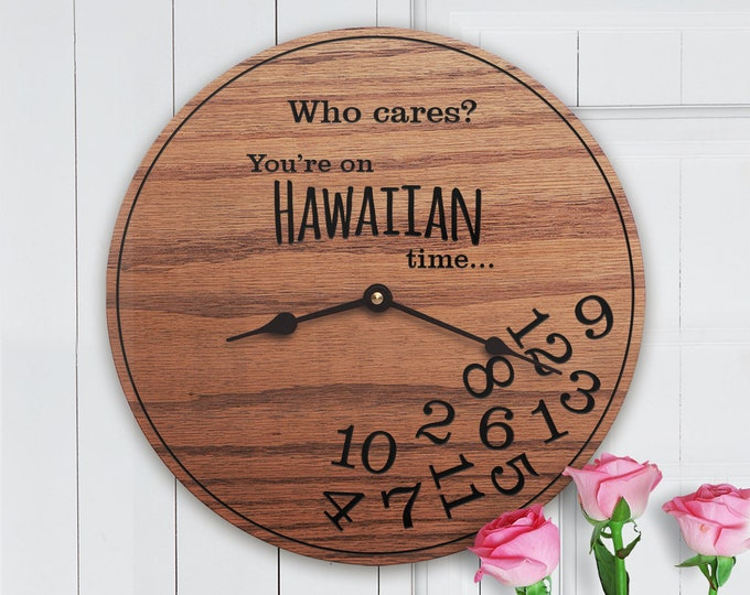 Funny Hawaiian Gifts - Who Cares Youre On Hawaiian Time - Gifts for Islanders - Beach - Island Decor - Island Time - Hawaiian Gifts