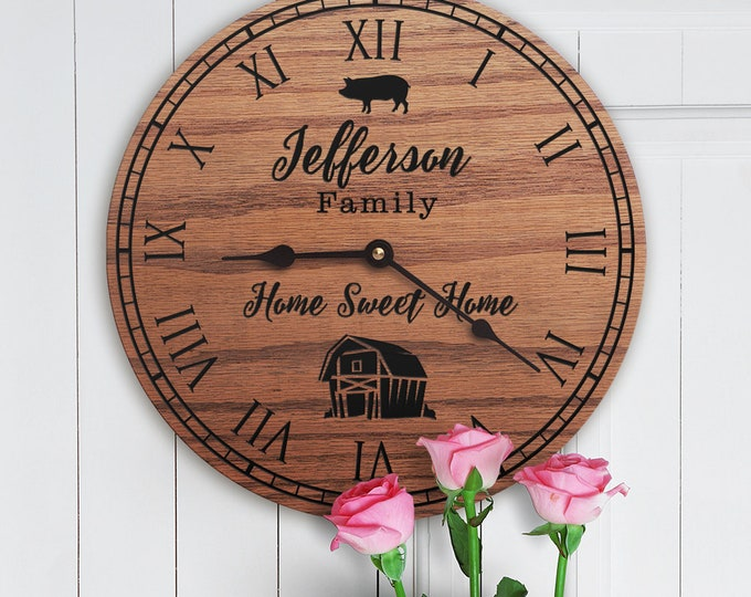 Personalized Pig Decor Gift - Hog Farm Decor - Bacon - Pork Producer - Custom Date - Pig Pen - Cute Pig - Family Name - Pig Hog Farm