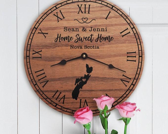 Nova Scotia Housewarming Gift - Nova Scotia Decor - Nova Scotia Map - Custom Names - Canada - Home Sweet Home - New Home - Nova Scotia Home