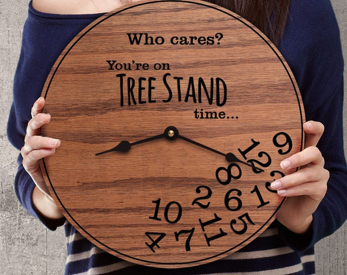 Funny Hunting Gifts - Gifts for Deer Hunters - Gifts for Hunting Deer - Gifts for Tree Stand Funny - Tree Stand Time