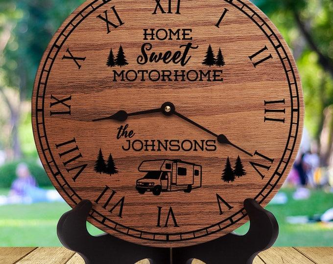 Camper Decor - Home Sweet Motorhome - Custom Last Name - Family Name - Motorhome - Motorcoach - Diesel Pusher - Class C - Coach - Rig - Bus