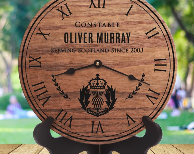 Police Scotland - Scottish Police Officer - Retirement Gift - Custom Names - Engraved - Retirement - Academy - Constable - Sergeant - Cadet