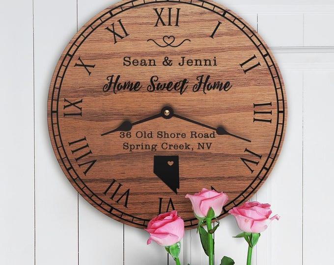 Nevada Housewarming Gift - New Home - State Map - Living in Nevada - Home NV - Sagebrush State - Home Sweet Home - Street Address