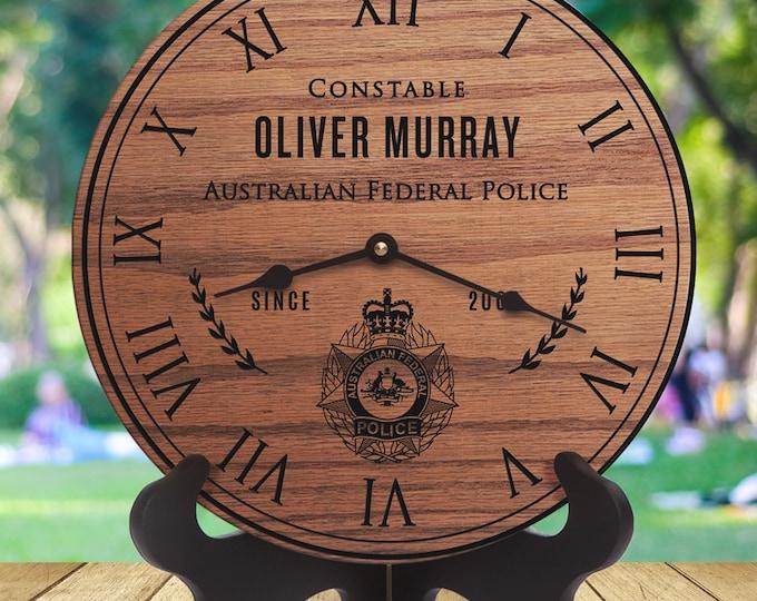 Australian Federal Police Gift - Australian Police Officer Retirement - Custom Names - Retirement - Training - Academy - Constable - Cadet