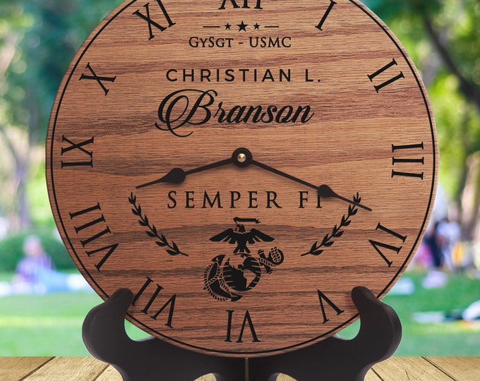 USMC Gifts for Husbands - Semper Fi  - Family Marine Corps - Military Family - Wife of USMC - Wife of Marine - Engraved -Marine Script Gift