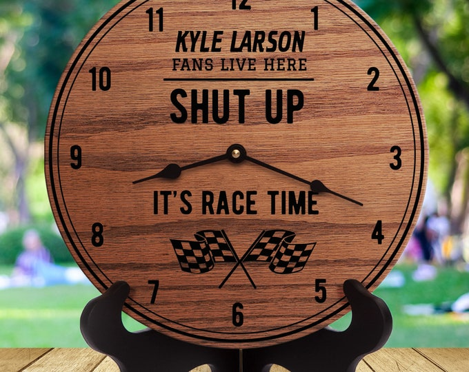Kyle Larson - Shut Up It's Race Time - Sports Gifts - Gift For Auto Racing Fans - Sports Room Decor - Sports Are On - Driver - Race