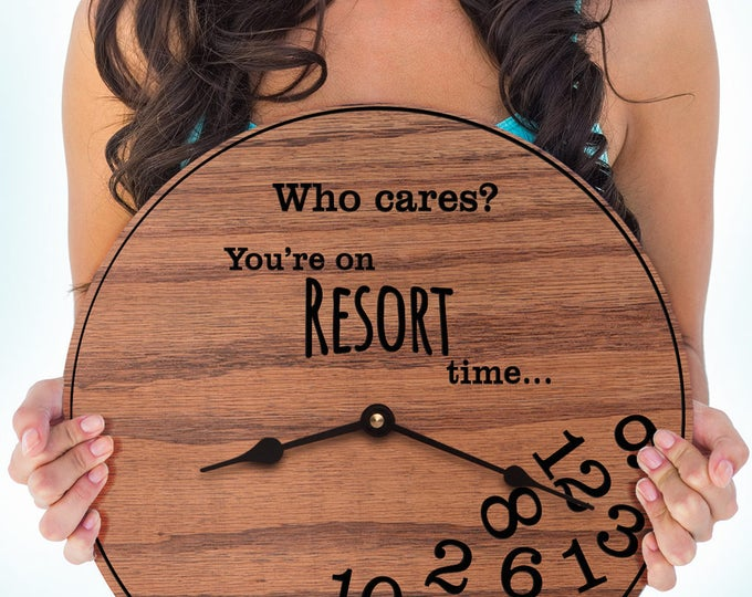Funny Resort Gifts - Gifts for People Who Vacation on Resorts - Gifts for Travel Resorts -Resort Decor - Honeymoon Gift - Resort Time