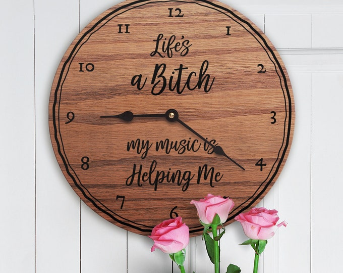 Life's a Bitch My Music Is Helping - Gift for Musicians - Music Quote - Musical Gift - Funny Gift for Musicians