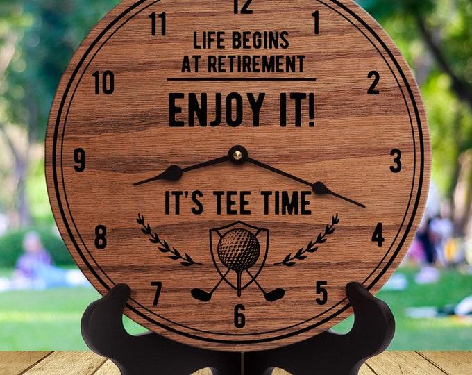 Retirement Gifts for Man - Retirement Gifts for Male Boss - Retirement Gift Men - Men's Retirement - Life Begins at Retirement Enjoy It!