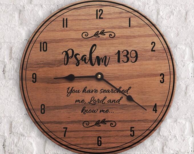 Psalm 139 - Psalm Decor - Scripture Decor - Wooden Decor - Encouraging Decor