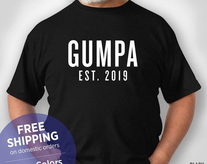 Gumpa Est 2019 - New Grandpa -  Retirement Gift Grandpa - Funny Tshirt - Grandpa Birthday Gift