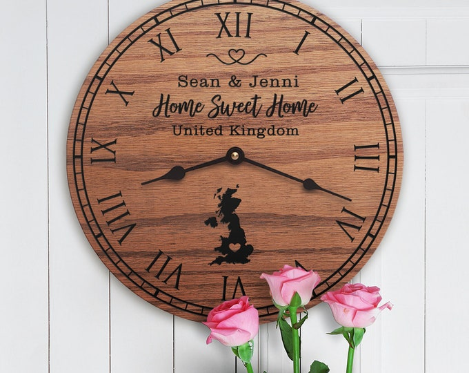 United Kingdom Housewarming Gift - Decor - United Kingdom Map - Custom Names - UK - Home Sweet Home - New Home - United Kingdom Home
