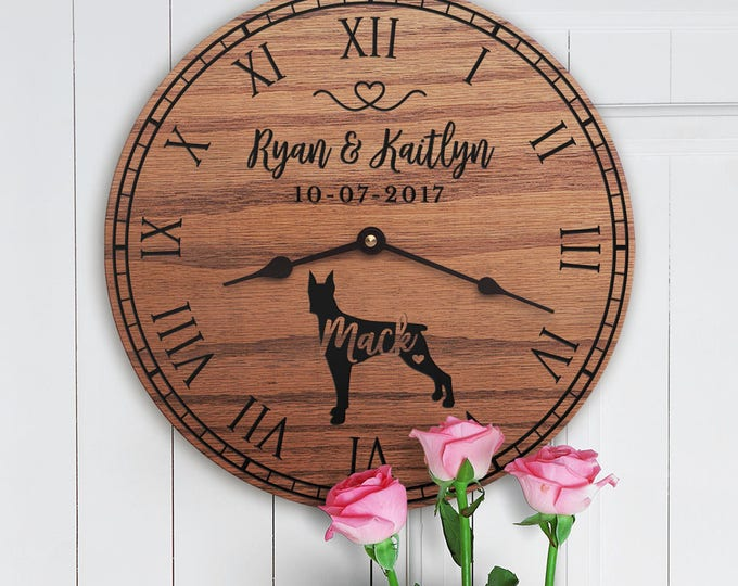 Gift for the Home of Couple with Doberman Pinscher - Personalized Doberman Gift - Doberman Dog Parents - Custom Family Dog - Doberman Lovers