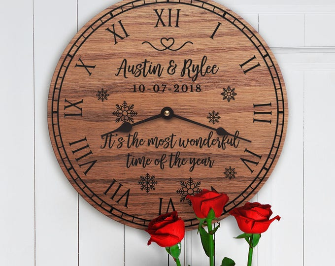 It's the Most Wonderful Time of the Year - Personalized Christmas Decor - Gift For Couple - Christmas Gift for Family - Custom Names