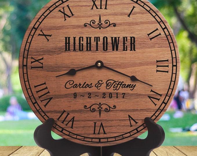 Custom Western Wedding Gift - Personalized Cowboy Wedding Gift - Farm Wedding - Ranch Wedding - Custom Names - Western Love Clock