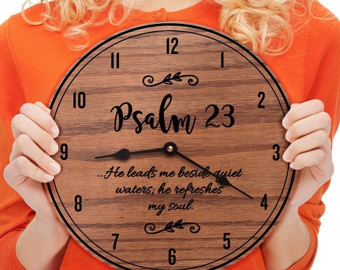Psalm 23 - Psalm Decor - Scripture Decor - Wooden Decor - Encouraging Decor