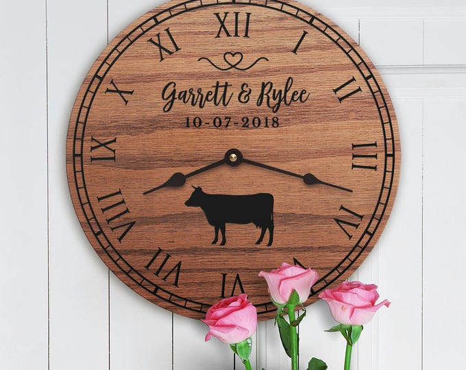 Personalized Cow Decor Gift - Cute Cow Decor - Gift for Couple with Cows - Farm Decor - Ranch Decor - Cowboy Wedding - Gift for Cow Lover