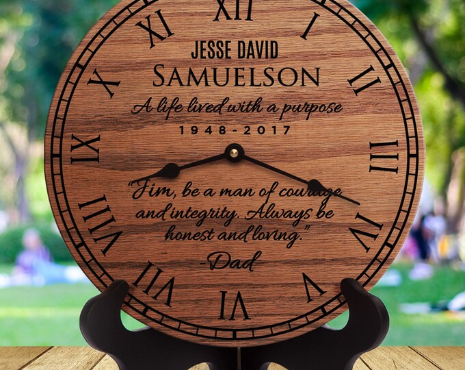 Sympathy Gift for Loss of Dad - Sympathy Gift for Loss of Father - Loss of Daddy - Loss of Dad - Loss of Father - Remembering Dad Clock