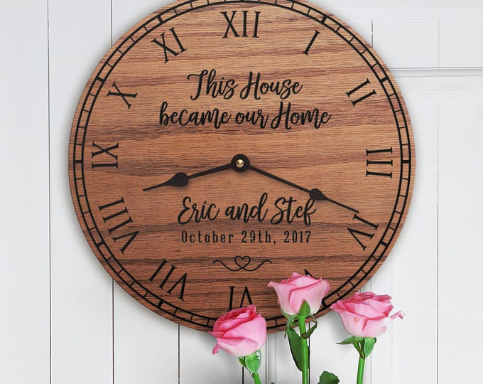 Housewarming Decor - This House Became Our Home - New House Gift - Moving Gift - Custom Last Name - Family Name Custom