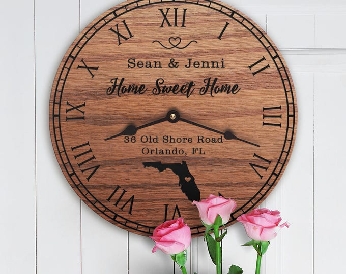 Florida Housewarming Gift - New Home - State Map - Living in Florida - Home FL - Sunshine State - Home Sweet Home - Street Address