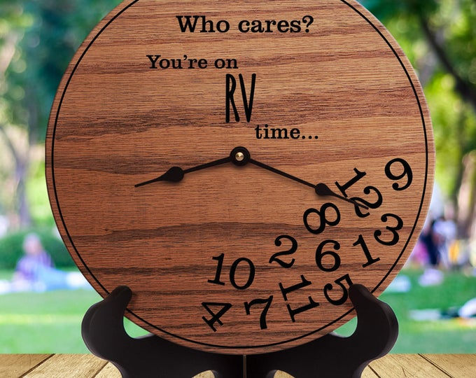 Funny Gifts Camper - Gifts for People Who Travel in Campers - Motorcoach - Gifts for RV - RV Decor - Gifts for Owner of Camper - RV Time