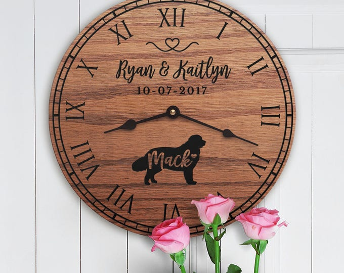 Gift for the Home of Couple with Newfoundland - Personalized Dog Gift - Family Dog Custom Names - Dog Lovers - Newfoundland Lovers