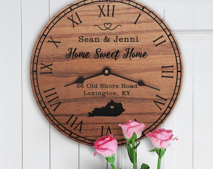 Kentucky Housewarming Gift - New Home - State Map - Living in Kentucky - Home KY - Bluegrass State  - Home Sweet Home - Street Address