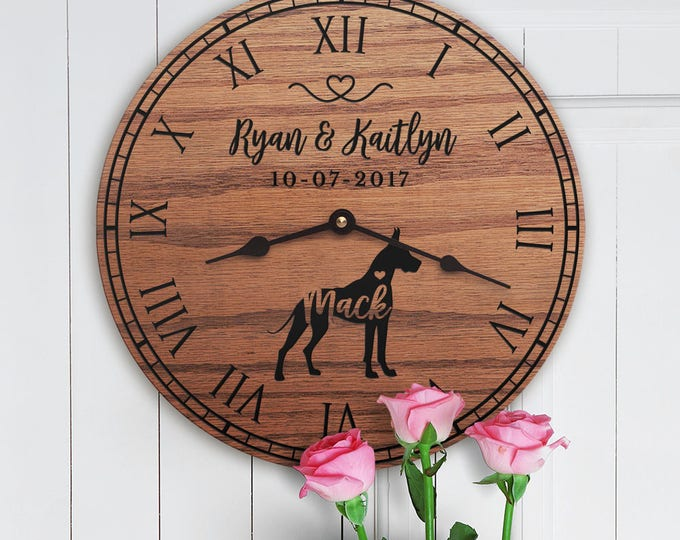 Gift for the Home of Couple with Great Dane - Personalized Great Dane Gift - Dog Parents - Family Dog Custom Names - Great Dane Lovers